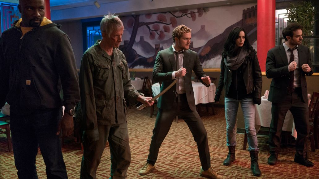 defenders mike colter scott glenn finn jones krysten ritter charlie cox The Defenders Protect Marvels Legacy on Netflix as Best They Can