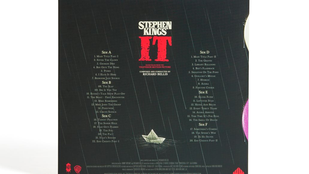it back cover Soundtrack for Stephen Kings It TV series getting first ever vinyl release