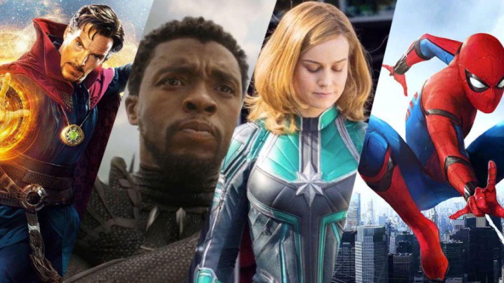 Doctor Strange, Black Panther, Captain Marvel, Spider-Man