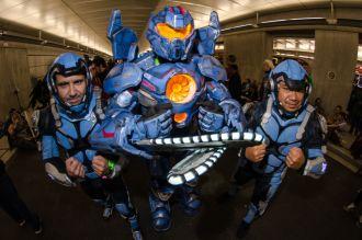 Pacific Rim Gipsy Danger Jaeger pilots New York Comic Con 2018 Ben Kaye-116