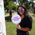 Political Fans, Austin City Limits 2018, photo by Amy Price