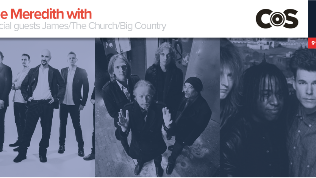 Kyle Meredith with James, Church, and Big Country