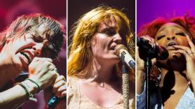 The Strokes (Debi Del Grande), Florence + The Machine (Lior Phillips), and SZA (wire)
