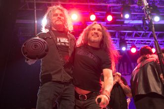 Bobby Blitz and Mark Osegueda Perform with Metal Allegiance