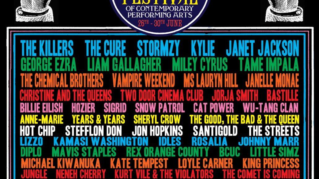 Glastonbury 2019 lineup poster