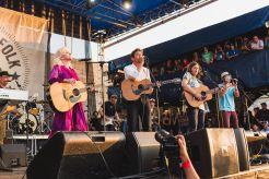 Chris Funk, Janet Weiss, Judy Collins, Jason Isbell, Robin Pecknold, John Stirratt, Eric D. Johnson, and James Mercer at If I Had a Song at Newport Folk Festival 2019 Ben Kaye