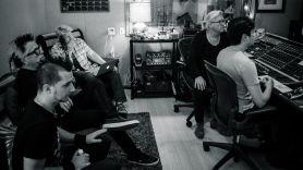 The Offspring and Bob Rock studio shot