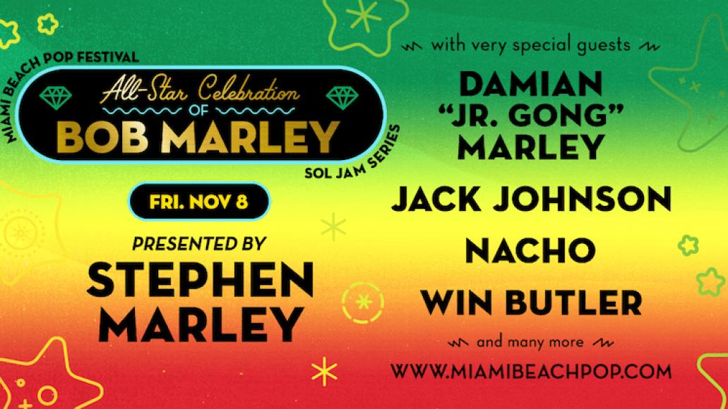 all star tribute bob marley miami beach festival Arcade Fires Win Butler, Jack Johnson to take part in Bob Marley tribute at Miami Beach Pop Festival