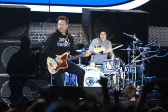 Blink-182 at Riot Fest 2019, photo by Heather Kaplan