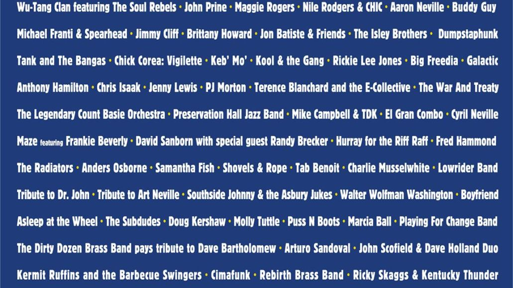 New Orleans Jazz Fest 2020 lineup