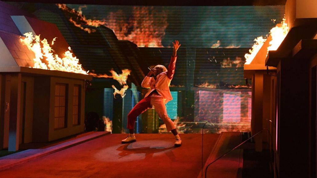 Tyler the Creator performing at 2020 Grammys