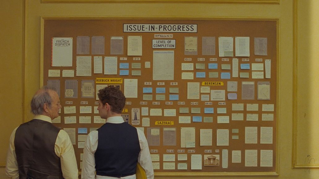 Bill Murray in The French Dispatch (Searchlight Pictures) wes anderson
