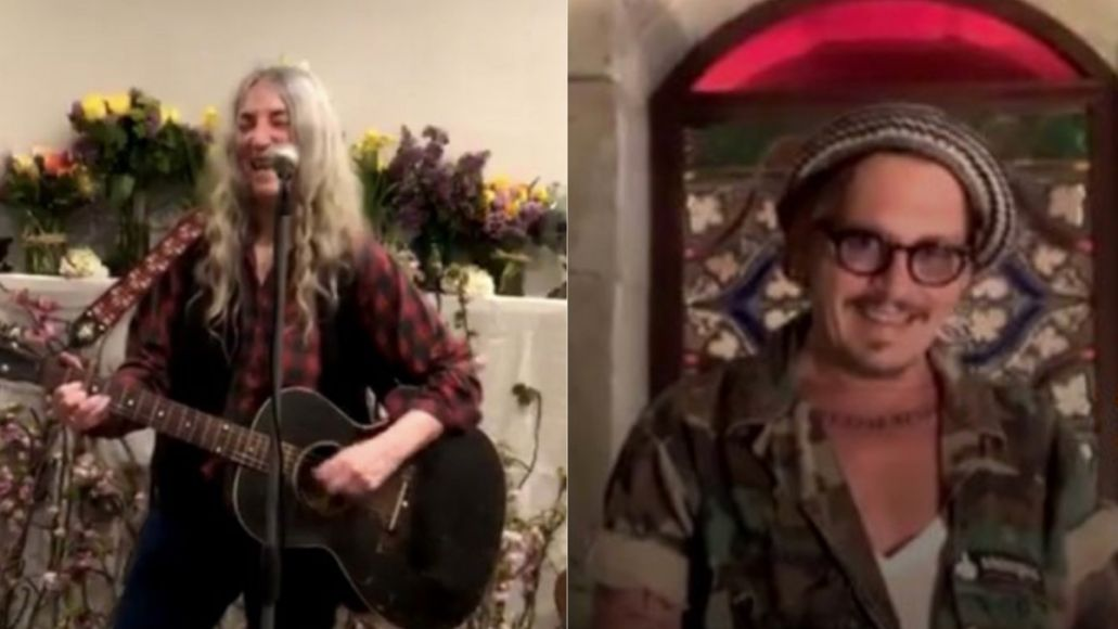 Patti Smith sings for Johnny Depp