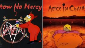 Simpsons Metal and Rock Album Covers