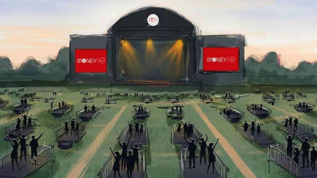 Socially distanced music venue Newcastle UK Virgin Money Unity Arena