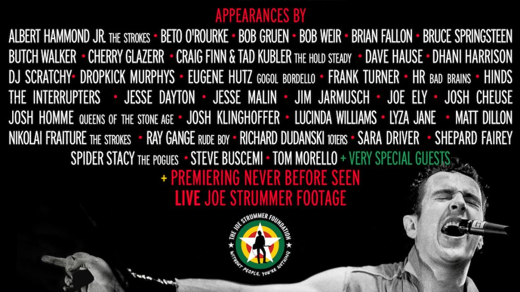 a song for joe strummer livestream tribute lineup poster Bruce Springsteen, Bob Weir, Lucinda Williams Set for Massive Joe Strummer Tribute Livestream