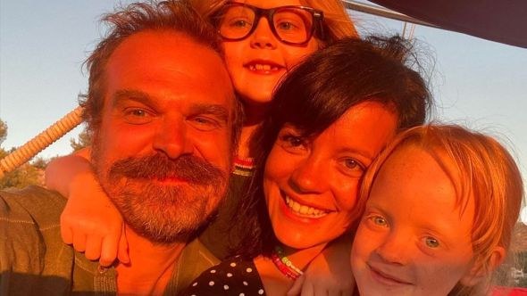 Lily Allen David Harbour married engaged couple dating, photo via Instagram