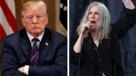 Patti Smith Donald Trump quote president politics terrible atmosphere political Donald Trump and Patti Smith (photo by Maja Smiejowska)