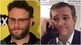 "Seth Rogen Keeps Telling ""Fascist"" Ted Cruz to ""Fuck Off"""