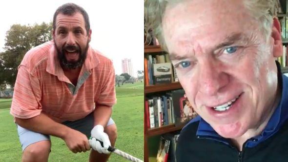 Adam Sandler and Shooter McGavin
