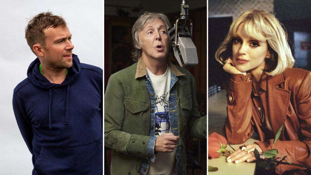 Paul McCartney III Imagined remix covers album new tream Paul McCartney, pictured alongside Damon Albarn and St. Vincent