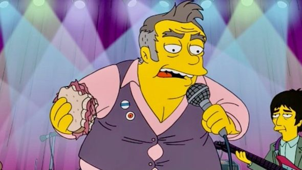 Morrissey-inspired character Quilloughby on The Simpsons (FOX)