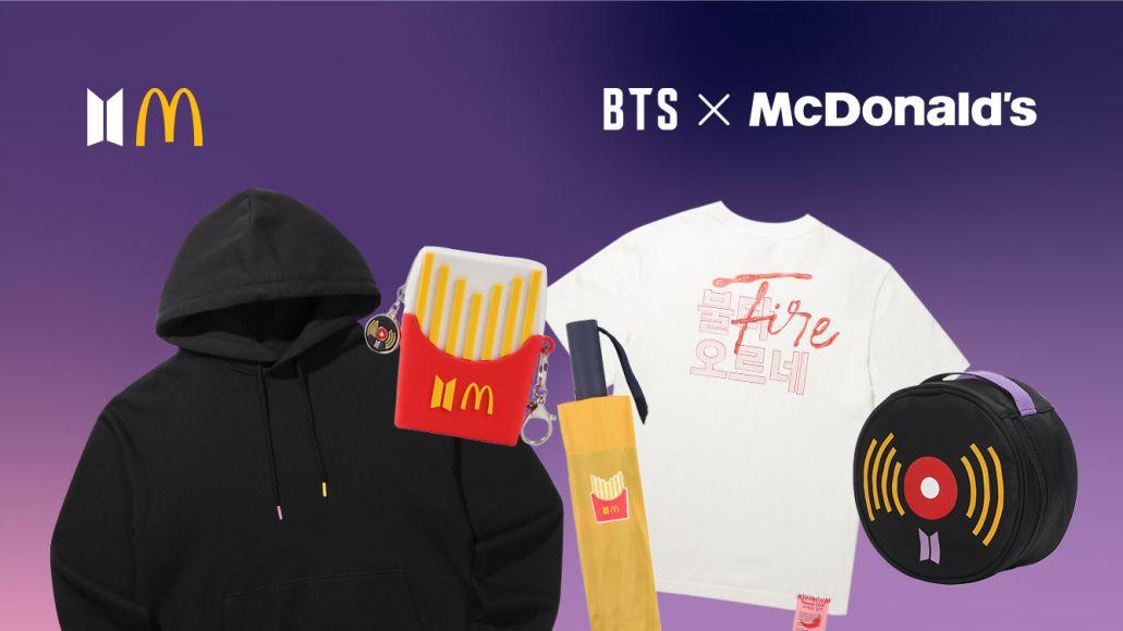 BTS McDonald's Merch colbert bags and stuff