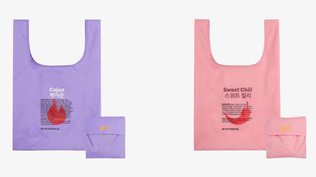 BTS McDonald's Merch colbert cajun sweet chili bags