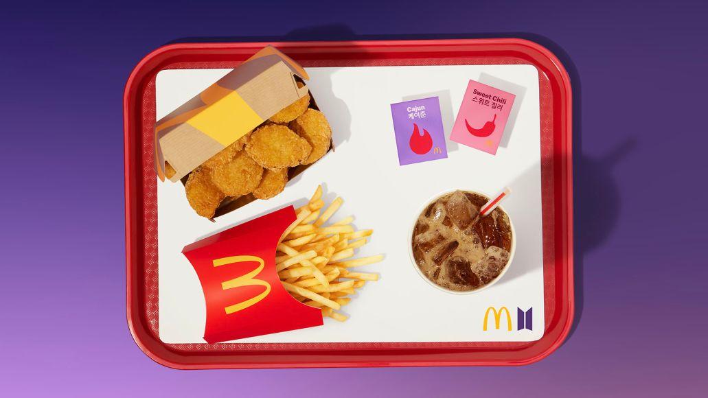 BTS McDonald's Merch colbert meal