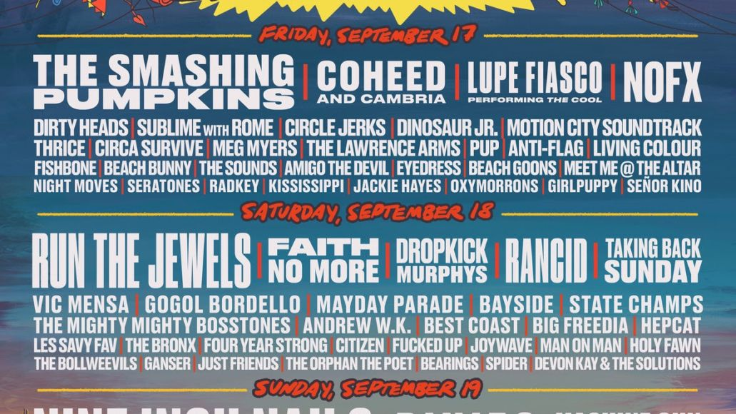 Riot Fest 2021 Daily Lineup Poster