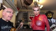"Robert Fripp, Toyah Willcox, and ""Sidney Jake"" perform Firestarter"