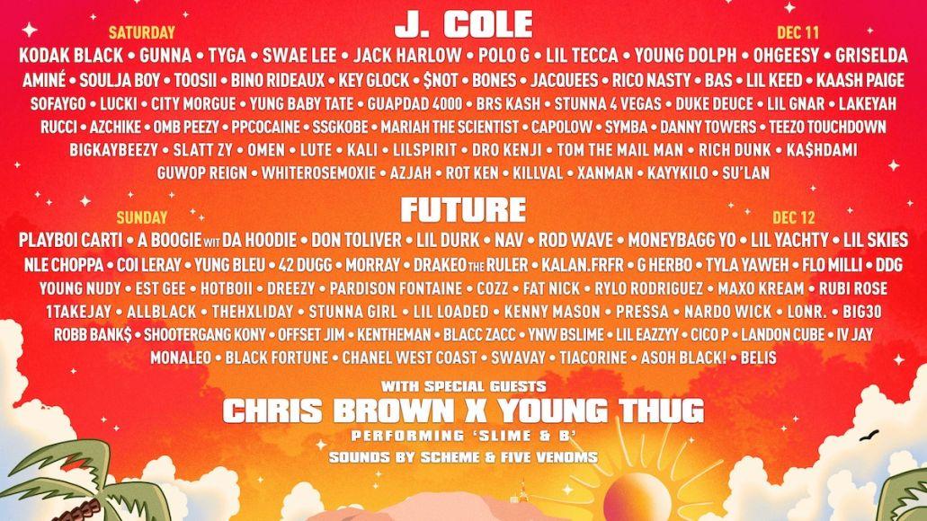 Rolling Loud California Los Angeles San Bernardino 2021 lineup kid cudi festival j cole future
