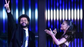 The Weeknd and Ariana Grande performing at iHeartRadio Music Festival 2021, photo via FOX