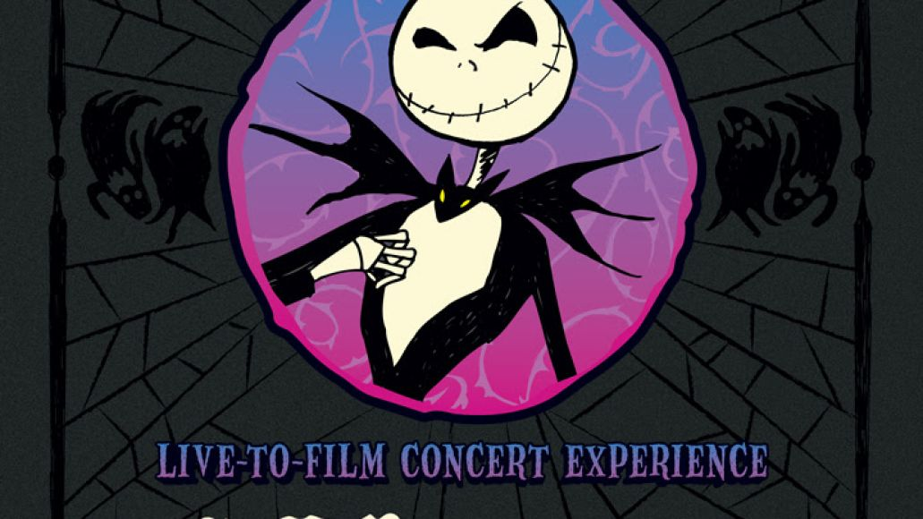 danny elfman the nightmare before christmas concert poster